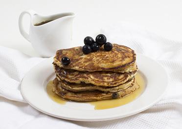 Wholemeal Blueberry Hotcakes