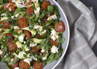 Fresh Garden Salad with Avocado and Basil