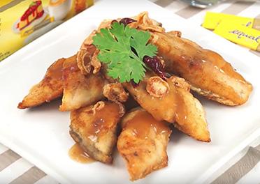 Pan Fried Sea Bass with Sweet Chili Sauce